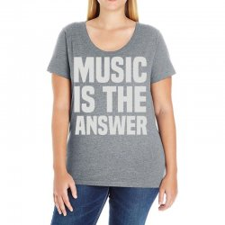 music is the answer Ladies Curvy T-Shirt | Artistshot