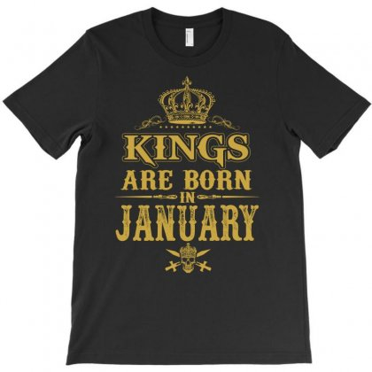 Kings Are Born In January T-shirt Designed By Dang Minh Hai