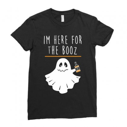 Halloween Booz Ladies Fitted T-shirt Designed By Riksense
