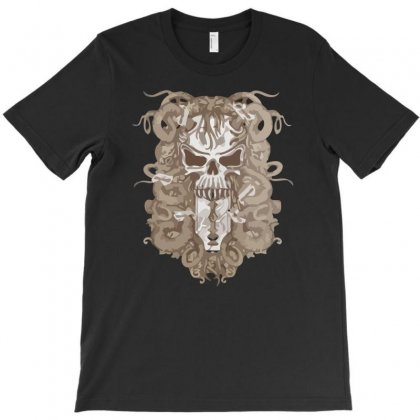 Halloween Skull T-shirt Designed By Riksense