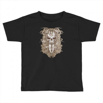 Halloween Skull Toddler T-shirt Designed By Riksense