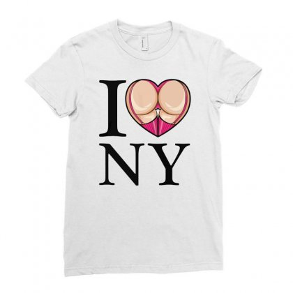 I Love Ny Ladies Fitted T-shirt Designed By Riksense
