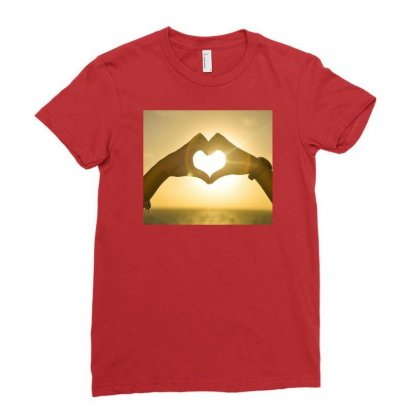 Heart Ladies Fitted T-shirt Designed By Maxduck
