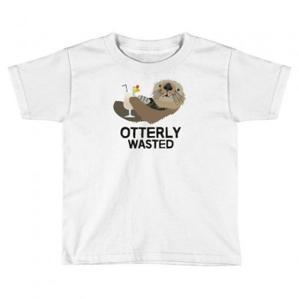 Otterly Wasted Drinking Toddler T-shirt Designed By Riksense