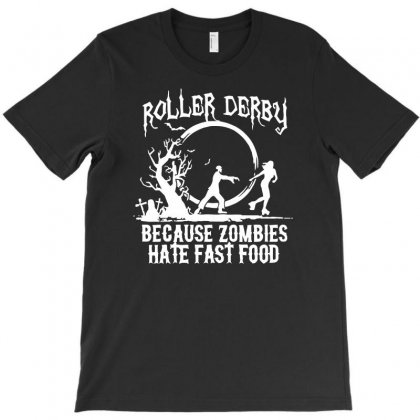 Roller Derby   Zombie T-shirt Designed By Riksense