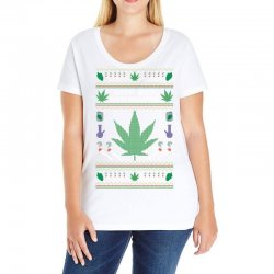 smoke weed ugly sweater Ladies Curvy T-Shirt | Artistshot