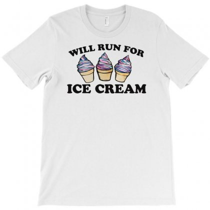 Will Run For Ice Cream T-shirt Designed By Riksense
