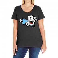 screaming paw Ladies Curvy T-Shirt | Artistshot