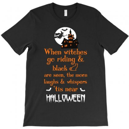 Witches Halloween T-shirt Designed By Riksense