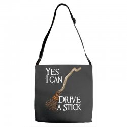 yes i can drive stick Adjustable Strap Totes | Artistshot