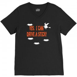 yes i can drive a stick V-Neck Tee | Artistshot