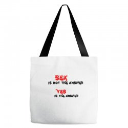 yes is the answer Tote Bags | Artistshot