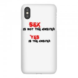 yes is the answer iPhoneX Case | Artistshot
