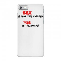 yes is the answer iPhone 7 Case | Artistshot