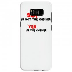 yes is the answer Samsung Galaxy S8 Case | Artistshot