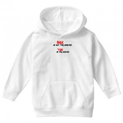 yes is the answer Youth Hoodie | Artistshot