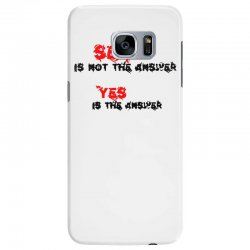yes is the answer Samsung Galaxy S7 Edge Case | Artistshot