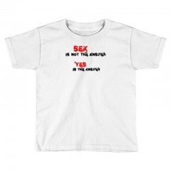 yes is the answer Toddler T-shirt | Artistshot