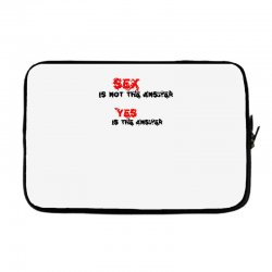 yes is the answer Laptop sleeve | Artistshot