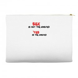yes is the answer Accessory Pouches | Artistshot
