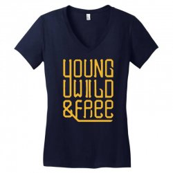 young wild and free Women's V-Neck T-Shirt | Artistshot