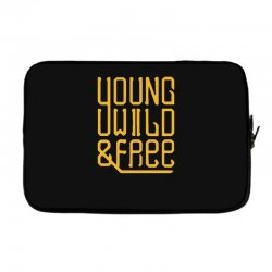 young wild and free Laptop sleeve | Artistshot