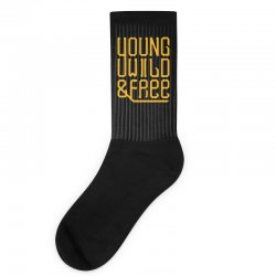young wild and free Socks | Artistshot