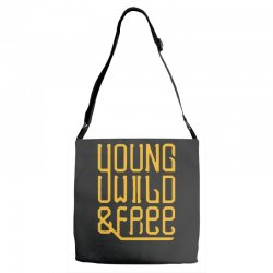 young wild and free Adjustable Strap Totes | Artistshot