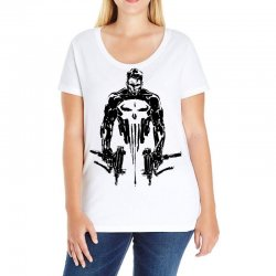 5e79cd42df001 Custom Punisher Ladies Fitted T-shirt By Sbm052017 - Artistshot