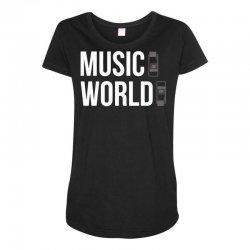 music on world off Maternity Scoop Neck T-shirt | Artistshot