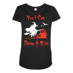 yes i can drive a stick Maternity Scoop Neck T-shirt | Artistshot