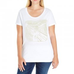 the scream Ladies Curvy T-Shirt | Artistshot