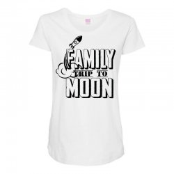 Family Trip To Moon Maternity Scoop Neck T-shirt   Artistshot