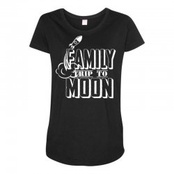 Family Trip To Moon Maternity Scoop Neck T-shirt | Artistshot