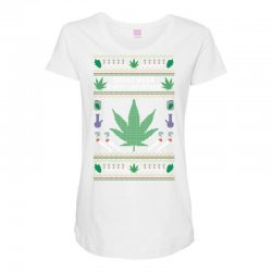 smoke weed ugly sweater Maternity Scoop Neck T-shirt | Artistshot