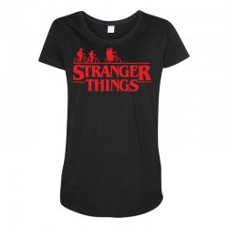 Stranger Things Maternity Scoop Neck T-shirt | Artistshot