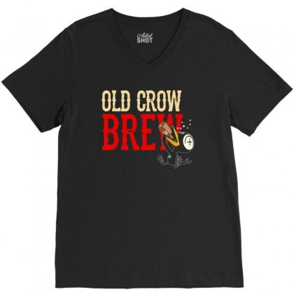 Drinky Crow V-neck Tee Designed By Aheupote