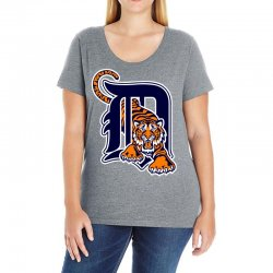 detroit tigers sports baseball Ladies Curvy T-Shirt | Artistshot