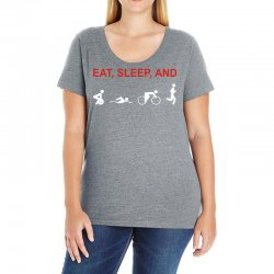 eat, sleep & train triathlon sports, gym, athletic Ladies Curvy T-Shirt | Artistshot