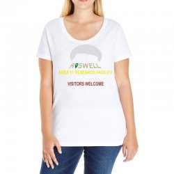 funny alien conspiracy theory roswell area 51 Ladies Curvy T-Shirt | Artistshot
