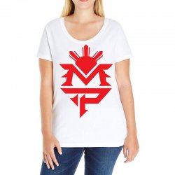 manny pacquiao red mp logo boxer sports Ladies Curvy T-Shirt | Artistshot