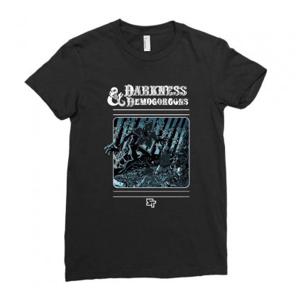 Darkness And Demogorgons Ladies Fitted T-shirt Designed By Mash Art