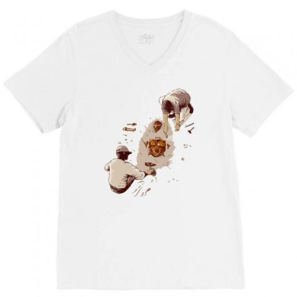 Discovery V-neck Tee Designed By Mash Art