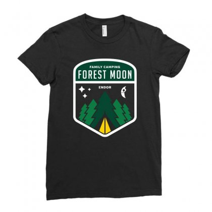 Endor Family Camping Ladies Fitted T-shirt Designed By Mash Art