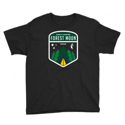 Endor Family Camping Youth Tee Designed By Mash Art