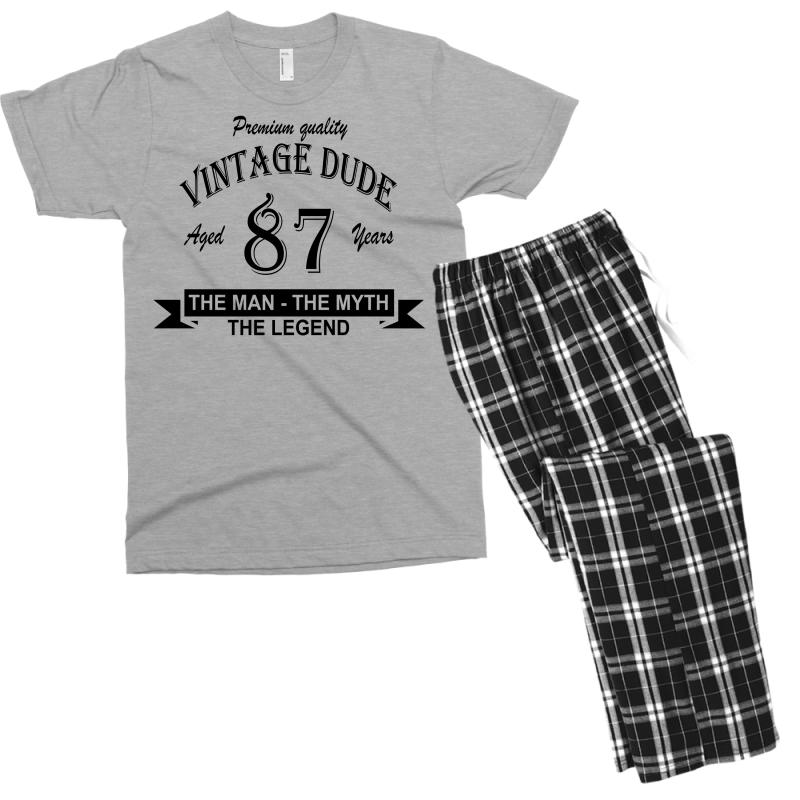 Aged 87 Years Men's T-shirt Pajama Set | Artistshot