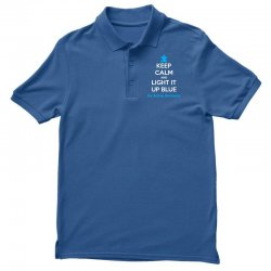 Keep Calm And Light It Up Blue For Autism Awareness Polo Shirt | Artistshot