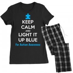 Keep Calm And Light It Up Blue For Autism Awareness Women's Pajamas Set | Artistshot