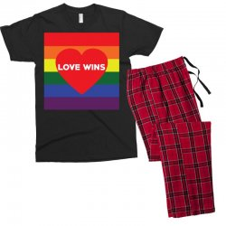 Love Wins Men's T-shirt Pajama Set | Artistshot