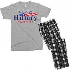 Ready For Hillary 2016 Men's T-shirt Pajama Set | Artistshot
